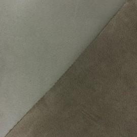 Bicolour thick Suede fabric Alaska - loutre/castor x 10cm