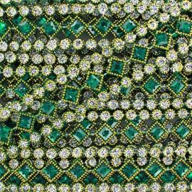 Diamonds braid trimming  x 50cm - green