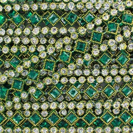 Galon Diamonds vert x 50cm