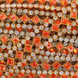 Galon Diamonds orange x 50cm