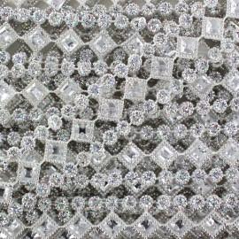 Diamonds braid trimming  x 50cm - white