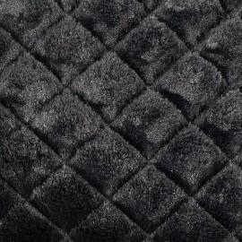 Fourrure Losanges noir x 10cm