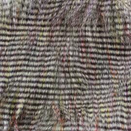 Fourrure aspect faisan multi x 10cm
