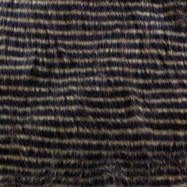 Fourrure à rayures marron x 10cm