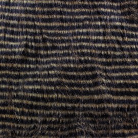 Striped fur - brown x 10cm