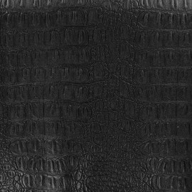 Simili cuir Caïman noir x 10cm