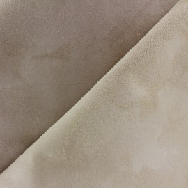 Bicolour thick Suede fabric Alaska - sand/beige x 10cm