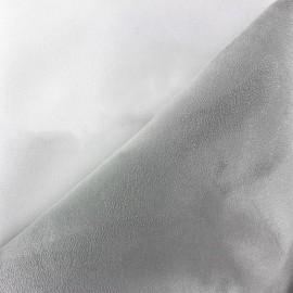 Bicolour thick Suede fabric Alaska - white/pearl x 10cm