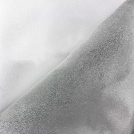 Tissu Suédine épaisse bicolore Alaska blanc/perle x 10cm