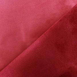 Tissu Suédine épaisse bicolore Alaska vermillon/cerise x 10cm