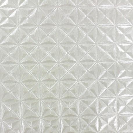 Faux leather Pyramide - ecru x 10cm