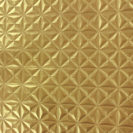 Faux leather Pyramide - gold x 10cm