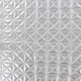 Simili cuir Pyramide argent x 10cm