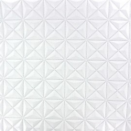 Faux leather Pyramide - white x 10cm