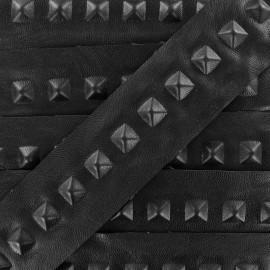 Ruban simili cuir Pyramid noir x 50cm