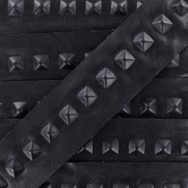 Ruban simili cuir Pyramid marine x 50cm
