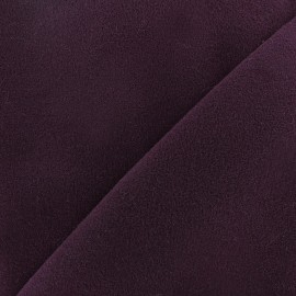 Coat woll fabric - aubergine x 10cm