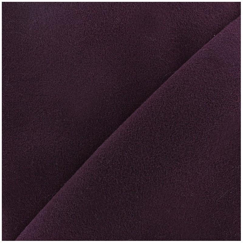 Tissu drap manteau aubergine x 10cm ma petite mercerie - Tissu pour drap ...