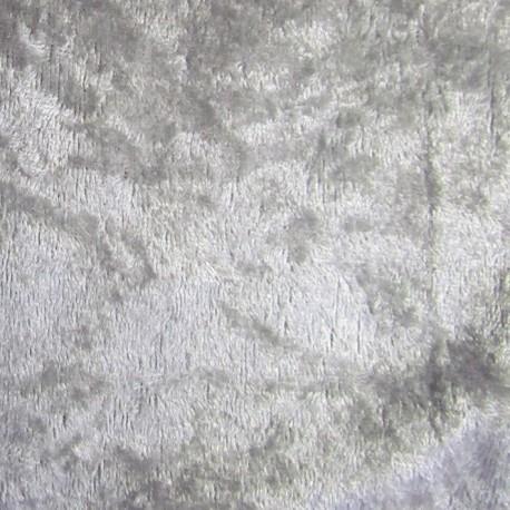 Strucked velvet fabric - silver x1m