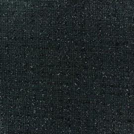 Tweed fabric Glossy black x 10cm