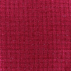 Tissu Tweed Glossy fuchsia x 10cm