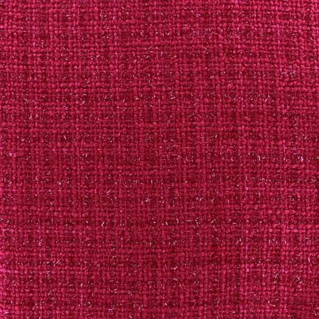 Tweed fabric Glossy fuchsia x 10cm
