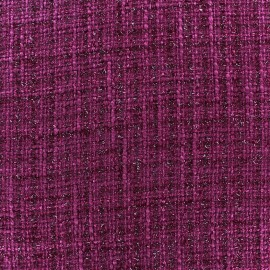 Tissu Tweed Glossy violine x 10cm