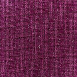 Tweed fabric Glossy violine x 10cm