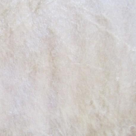 Strucked velvet fabric - ecru x1m