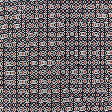 Crepe fabric Ethnic - beige x 10cm