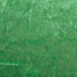 Tissu Velours frappé vert prairie x1m