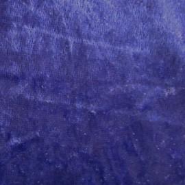 Tissu Velours frappé marine x1m