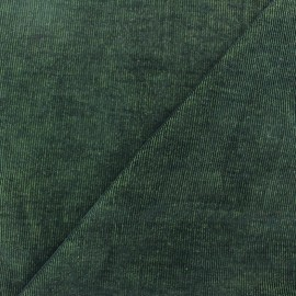 Milleraies velvet fabric - moss/black two coloured 400gr/ml x10cm