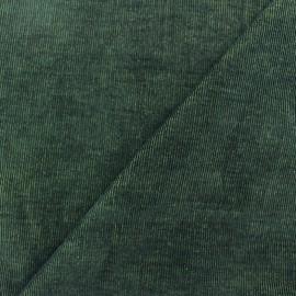 Tissu velours milleraies bicolore mousse/noir 400gr/ml x10cm