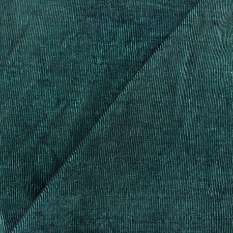 Milleraies velvet fabric - turquoise/black two coloured 400gr/ml x10cm
