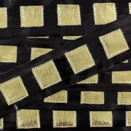 Ruban vinyle noir space age doré x 1 m