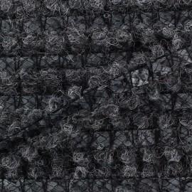 Galon ton sur ton laine/ similicuir gris x 10 cm
