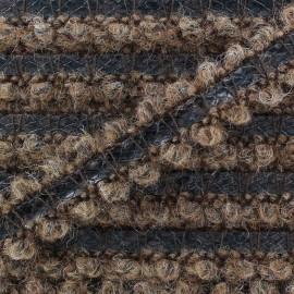 Galon ton sur ton laine/ similicuir marron x 10 cm
