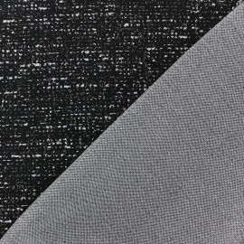 Thick reversible speckled jersey fabric - black x 10cm