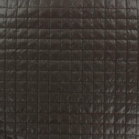 Tissu matelassé carrés marron x 10cm