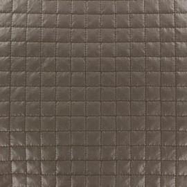 ♥ Coupon tissu 10 cm X 150 cm ♥ matelassé carrés taupe