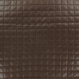 Quilted Fabric Carrés - chocolate x 10cm