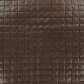 Tissu matelassé carrés chocolat x 10cm