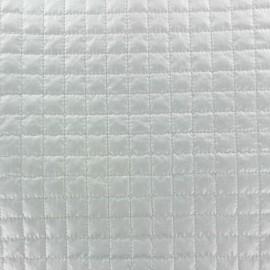 Tissu matelassé carrés blanc x 10cm