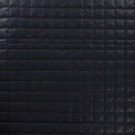 ♥ Coupon tissu 10 cm X 150 cm ♥ matelassé carrés marine