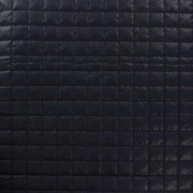 Tissu matelassé carrés marine x 10cm