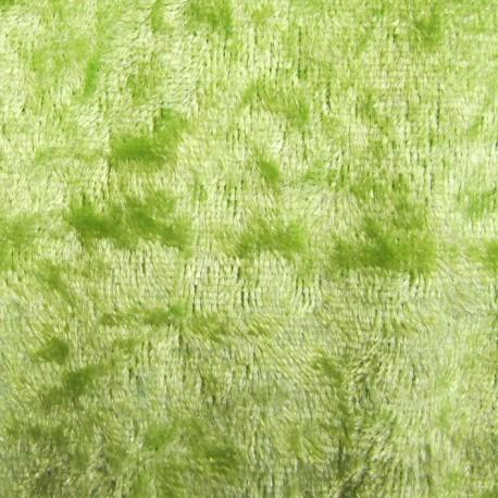 Strucked velvet fabric - lime x1m
