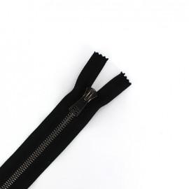 Fermeture Eclair-PLus® fine métal gun SEPARABLE noir