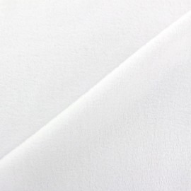Sweat reverside Minkee velvet Fabric - white x 10cm