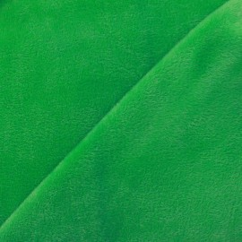 Sweat reverside Minkee velvet Fabric - green x 10cm
